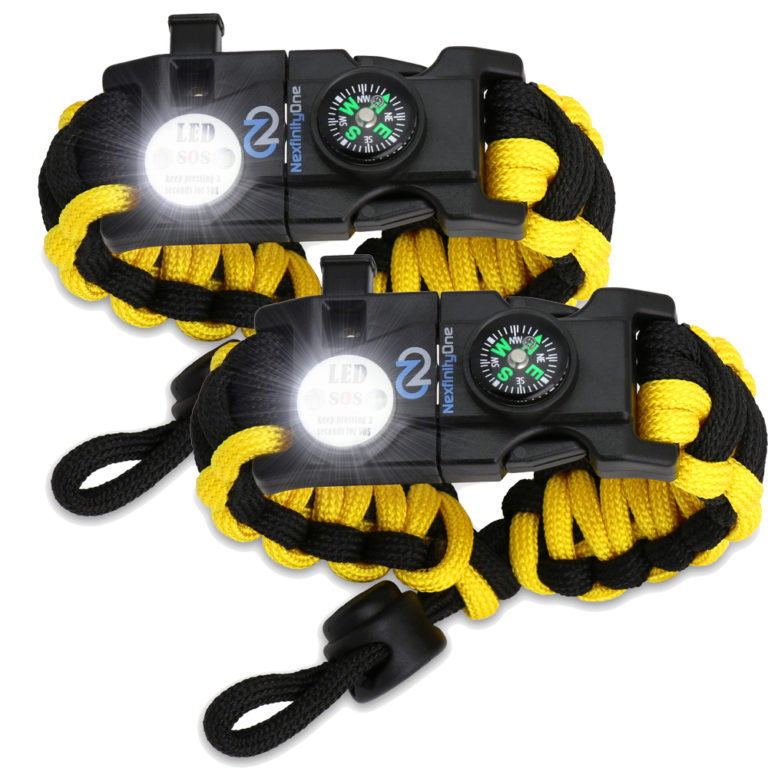 Yellow Paracord Bracelet
